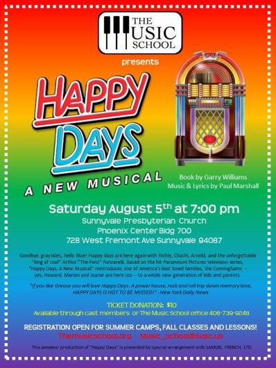 Happy Days flyer