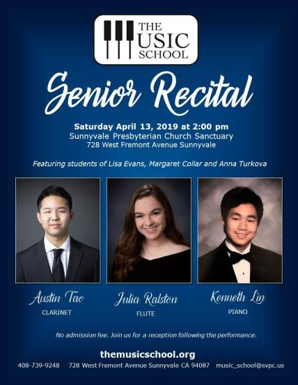 Senior Recital Flyer blue